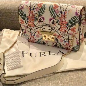 Furla Metropolis Shoulder Bag (Floral Print)